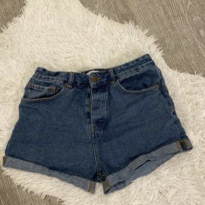 Forever 21 Shorts Roll Cuff Button Fly Size 29